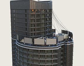 3D model Building Skyscraper City Town Downtown 3