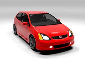 HONDA CIVIC SPORT TYPE R LOWPOLY 3D model