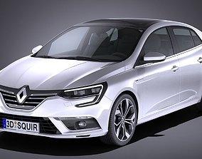 3D model Renault Megane Sedan 2017