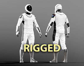 SPACESUIT SpaceX Dragon Starman RIGGED 3D