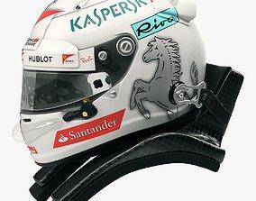 Sebastian Vettel 2017 style Racing helmet 3D model