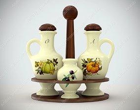 3D Table set - italian dishes