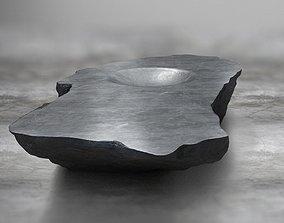 Rock Stone Obelisk Table 3D Model realtime
