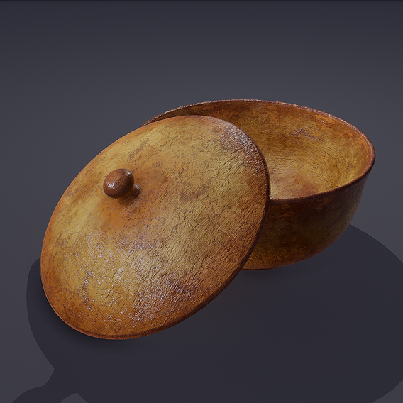 Terracotta Pot and Lid 3D Model