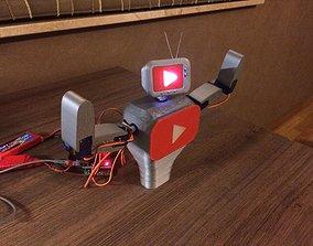 3D print model Youtube mascot robot
