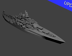 3D printable model US Tennessee Class Battleship