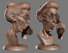 Grandma Suprise - Norman Rockwell sculpture- 3D Print