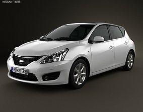 Nissan Tiida 2013 3D