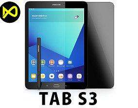 Samsung Tab S3 - New S-Pen Black 3D model