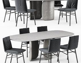 Chair Bonaldo PIL and Table Bonaldo MELLOW 3D