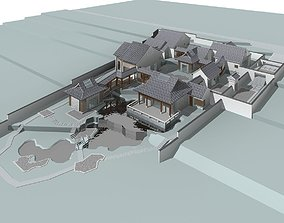 city-block business Chinese Style Architecture 3D model