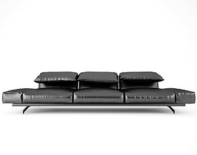 Contemporary Leather Sofa 3D