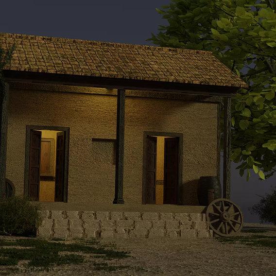 Indian village house