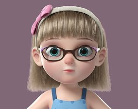 Cartoon Girl NoRig 3D model human