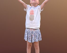 Lilly 10289 - Standing Playing Girl 3D asset