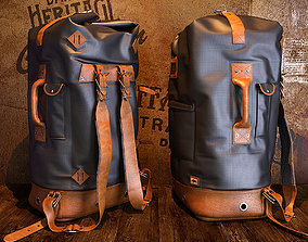 3D Buffalo Jackon Dakota Vintage Backpack Bag