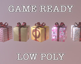 Present low-poly game ready 3D model