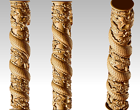 column 3D print model Dragon pillar