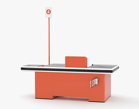 3D model Check-out Counter