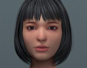 Asian Women Head 3D model