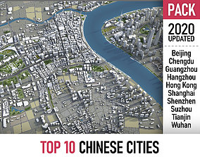 3D Top 10 Chinese Cities