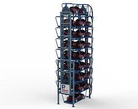 Rotary Parking System SM16L 3D model