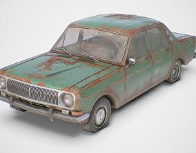 3D asset Old Soviet Car Set