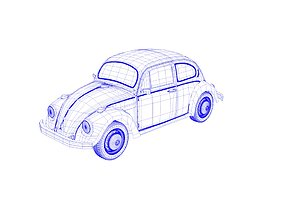 Volkswagen beetle dynamic 3d model