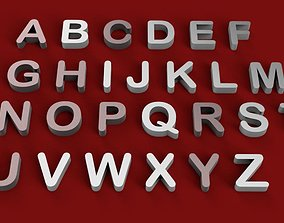 ARIAL ROUNDED font uppercase and lowercase 3D letters STL