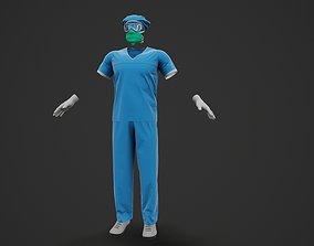 Male Doctor Uniform 3D model