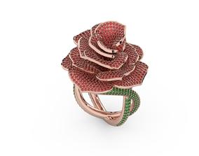 Diamond ring rose 3D printable model printable