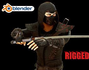 3D model rigged ninja