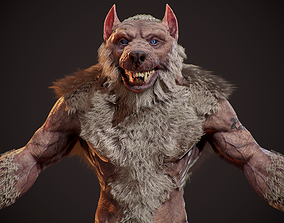 3D model WereWolf Wild Realistic