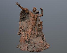 3D model Man statue 1