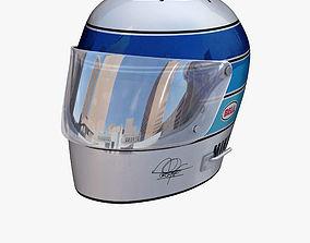 3D asset Mika Hakkinen helmet 1976