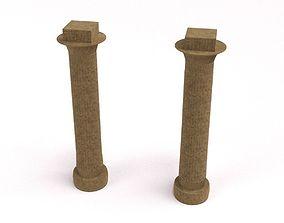 3D asset Customizable Egyptian Pillar