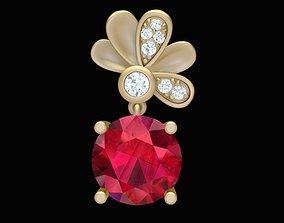 3D printable model 1881 Diamond Flower Pendant