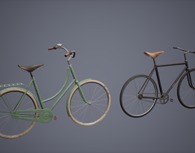 3D asset Bicycle Set Low Poly Game Ready
