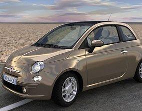 3D model animated Fiat 500