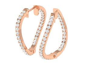 Women Earrings 3dm stl render detail gem delicate