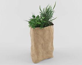 3D Groceries greens