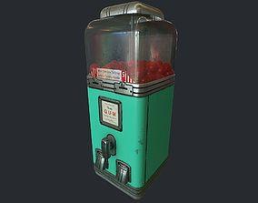 Vintage Gumball Machine pbr 3D asset