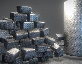 3D asset Metalplate - Texture Set - 6