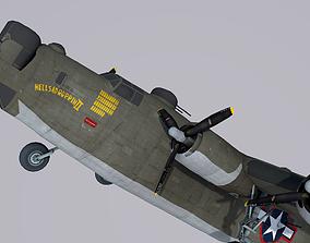 Consolidated B-24 Liberator 3D model us