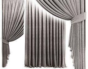 Curtain with garter 3D
