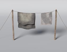 Clothesline 3D asset