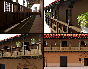 realtime COLONIAL HOUSE 3D MODEL