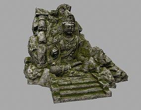 3D model buddha rocks