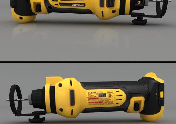 DEWALT 20V Max Drywall Cut-Out Tool Render