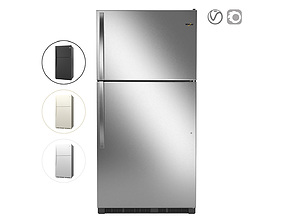 Whirlpool 33-inch Wide Top Freezer Refrigerator 3D